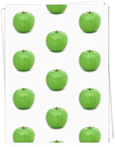 A1 'Green Apple' Gift Wrap / Wrapping Paper Sheet (GI00002627)