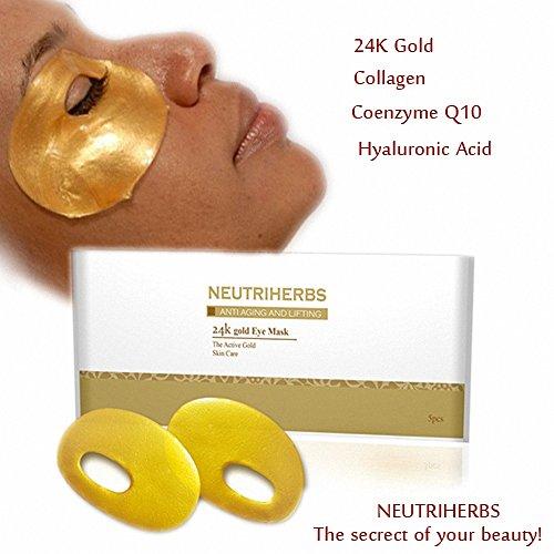 [Neutriherbs Nano Gold Collagen Crystal Eye Mask, Gold Crystal Eye Bag Mask Eye Zone Mask Best Anti Aging Anti Wrinkle Moisturizing Eye Mask For Skin] (Diy Incredibles Costume)