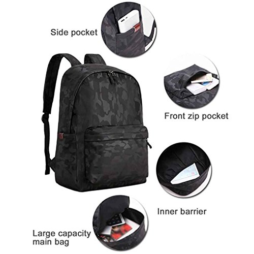 Daypack Mengonee Camouflage Casual Bag Men Backpack Shoulder Computer Book Travel Umbrella Waterproof Outdoor 7BYAwx