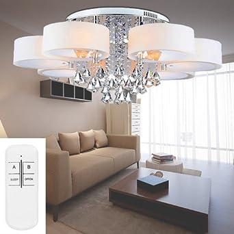 VINGO® Led Deckenleuchte Modern Deckenlampe Kristall ...