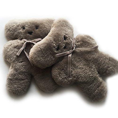 100% Australian Sheepskin/ Wool Koala Bear and Cuddle Bear in Grey for Kid / Child - Gift Australian Store