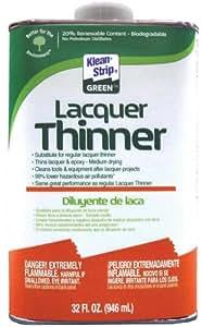 Klean-Strip Green QKGL75009 Lacquer Thinner, 1-Quart