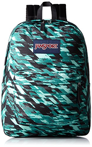 JanSport Unisex SuperBreak Aqua Dash Static Backpack