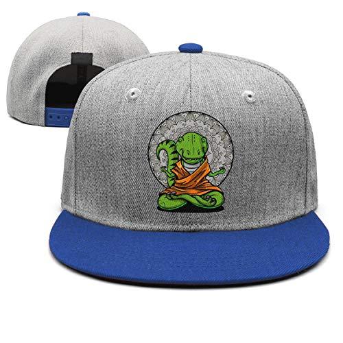Unisex Wool Blend Vintage Baseball Cap Dinosaur Yoga Spiritual Zen Buddha Flat Cap for - Flats Big Buddha