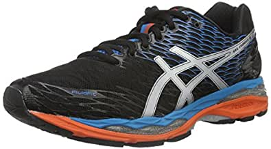 Asics Gel-Nimbus 18, Zapatillas de Running para Hombre, Multicolor (Onyx/Silver/Blue Jewel), 41.5 EU