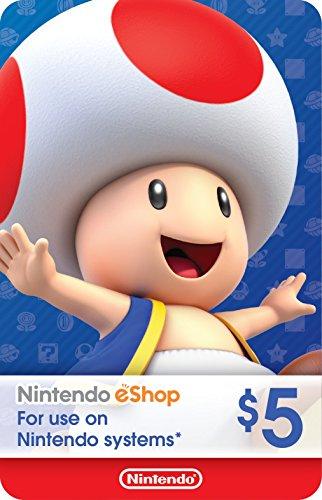 eCash - Nintendo eShop Gift Card $5 - Switch / Wii U / 3DS [Digital Code]