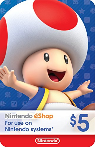Wii Points Card Code - eCash - Nintendo eShop Gift Card $5 - Switch / Wii U / 3DS [Digital Code]