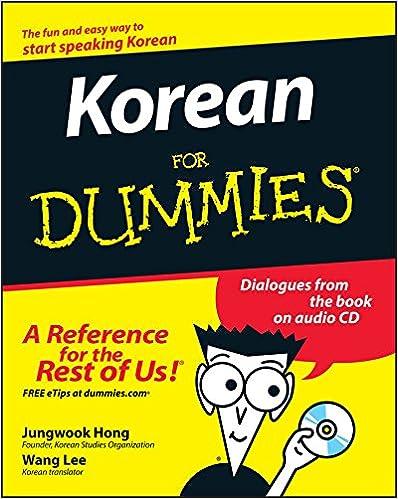 Korean For Dummies: Jungwook Hong, Wang Lee: 9780470037188