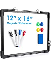 Small Dry Erase White Board, ARCOBIS Magnetic Hanging Double-Sided Whiteboard for Wall, Portable Mini Easel Board for Kids Drawing, Kitchen Grocery List, Cubicle Planning Memo Board