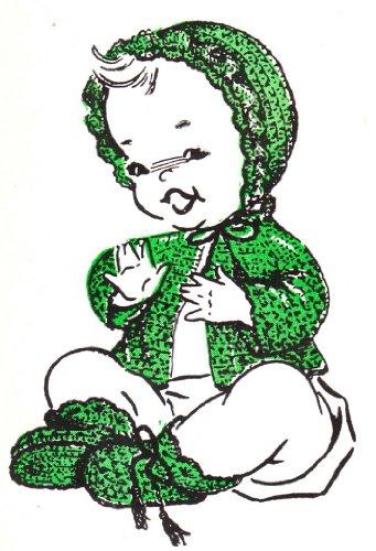 Scallop Ruffle Baby Set Layette Vintage Crochet Pattern EBook (Vintage Scallop)