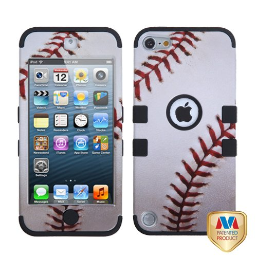 Fits Apple iPod Touch 5 (5th Generation) Snap on Cover Baseball-Sports Collection/Black TUFF Hybrid (does NOT fit iPod Touch 1st, 2nd, 3rd or 4th (Mybat Rhinestones)