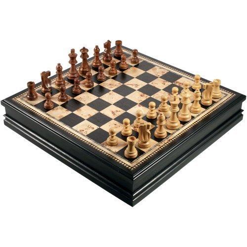新しいコレクション Adrienne Set Chess Inlaid Burl Inch and Black with Wood Board Game with High Quality Weighted Wooden Pieces and Tray - Extra Large 19 Inch Set by Best Chess Set [並行輸入品] B00TT8K4CS, お餅の専門店【うさもち】:1adfddb3 --- admin.imapack.com.br