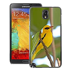 A-type Arte & diseño plástico duro Fundas Cover Cubre Hard Case Cover para Samsung Note 3 N9000 (Yellow Bird Branch Green Sky Hero Eye)