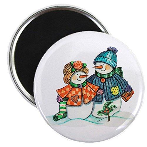 2.25 Inch Magnet Christmas Snow Couple Snow Men