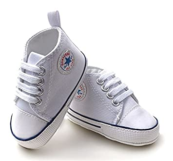 Converse Baby Booties Soft Sole Pram Shoes Amazon Co Uk Baby