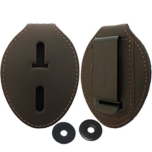 Oval Police Badge Holder Belt Clip - Also Use Around The Neck - Dark ()