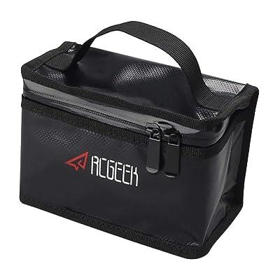 BonFook Lipo Bag Lipo Battery Bag Fireproof Explosion-Proof Safe Sturdy Double Zipper PVC Battery Bag Battery Guard Bag for DJI Spark/Mavic Pro/Mavic Air/Phantom3/4 (165x110x85mm-Smaller Size): Toys & Games