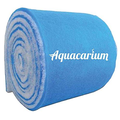 """Aquacarium 12"""" (1ft) x 120"""" (10ft) Blue Bonded Aquarium Filter Pads"""