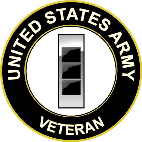 U.S. Army Chief Warrant Officer 3 Veteran Window Bumper Sticker Decal 3.8