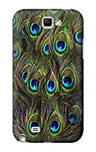 S1965 Peacock Feather Case Cover For Samsung Galaxy Note 2