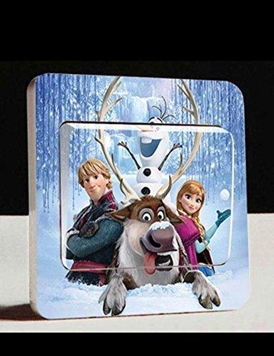 Disney Frozen L003 Stickers muraux pour chambre d'enfant Motif La Reine des Neiges Cartoon CartoonPrintDesign