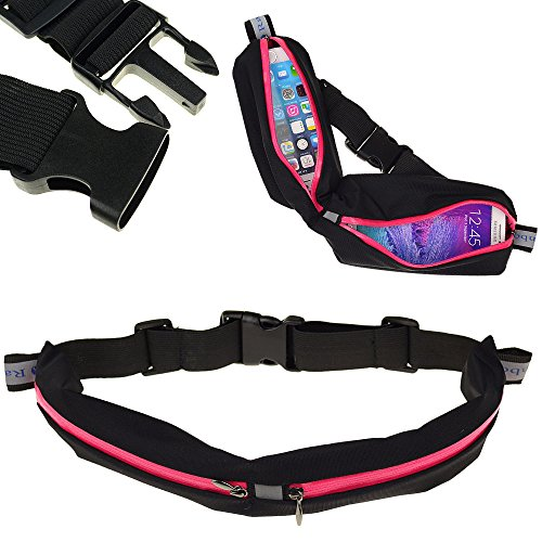 Ranboo Running Waist Pack Belt - Money Back Guarantee - Water Resistant - Extremely Light Weighted Elastic Bag - Sport Dual Pocket Running Belts for Apple Iphone 6,iphone 6 Plus,5s,nokia Lumia Wp Smartphones ,Samsung Galaxy S5,s4,note 3,note 4,note Edge,lg G2,lg G3,sony ,Htc ONE
