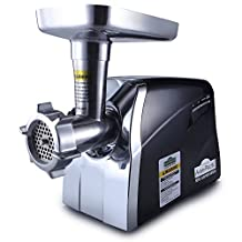 Avan-Pacific UMG-3010 1 HP ETL #12 LongLife Metal-Gear Heavy-Duty Electric Digital Light Touch Meat Grinder Butcher Shop 2 S.S. Knives 5 S.S. Plates & 3 Plastic Sausage Suffers and 1 Kubbe Maker