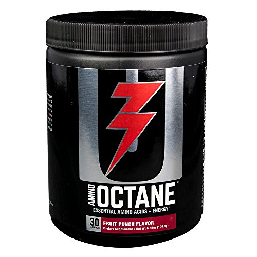 (Universal Nutrition Amino Octane Essential Amino Acids + Energy, Fruit Punch, 30 Count)