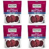 Rhythm Superfoods Beet Chips, Sea Salt, Non-GMO, 1.4 Oz (Pack of 4), Vegan/Gluten-Free Superfood Snacks