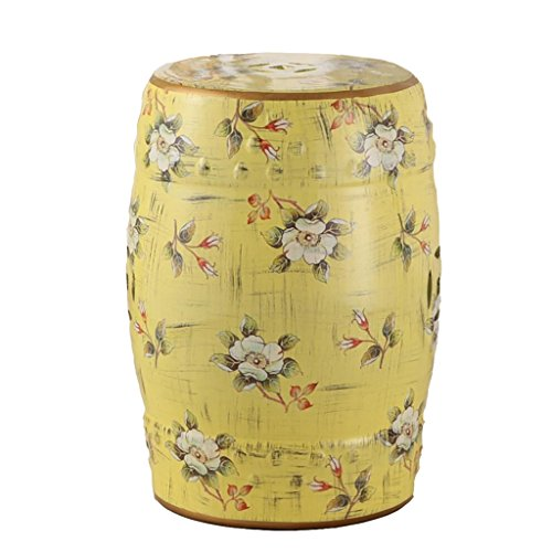 - AIDELAI Bar Stool Chair- European-Style Hand-Painted Ceramic Drum Stool Shoe Stool Ornaments Neo-Classical Dressing Stool Round Stool (30 46cm) Saddle Seat (Color : E)
