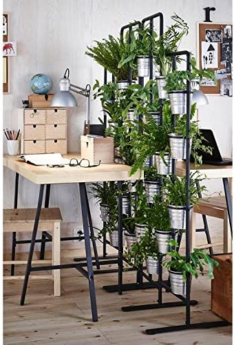 Soporte vertical de metal para 13 plantas, ideal para el balcón ...