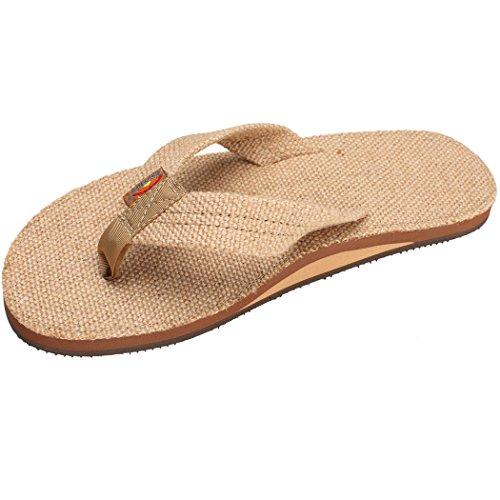 Rainbow Sandals Men's Poche Sandals Burlap Size XXX-Large (13.5-15)