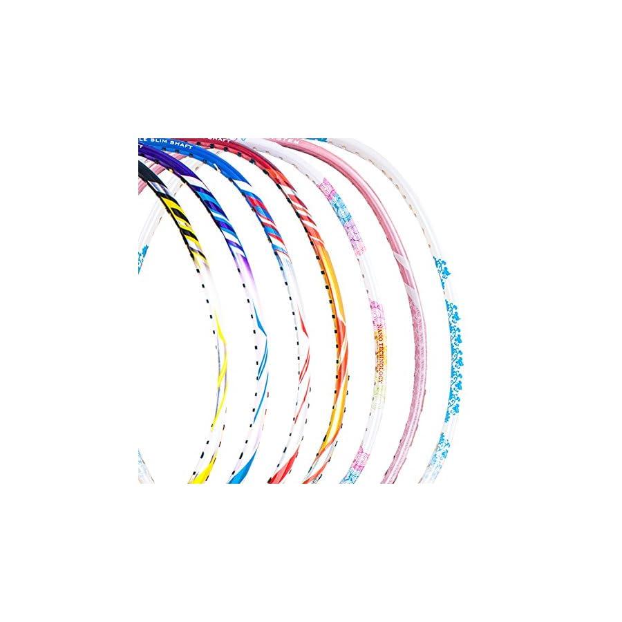 Senston Single Carbon Fiber Badminton Racquet High String Badminton Racket with Racket Cover