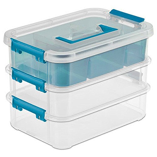 Sterilite 14138606 Layer Stack & Carry Box, 10-5/8-Inch Storage - Pack of 2