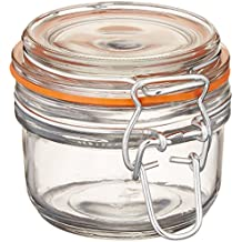 Anchor Hocking 5.4-Ounce Mini Glass Jar with Hermes Clamp Top Lid, Set of 12