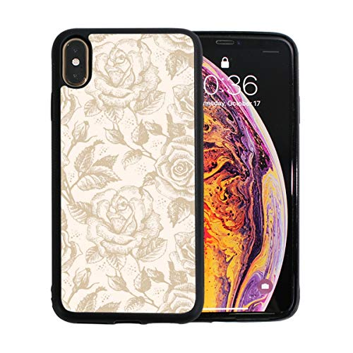 Flowers On The Branches Christmas Cute Marble Transparent Bumper Soft Silicone Slim Cover Best Protection Mobile Shell for iPhone Xs Max ()
