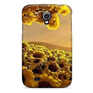 Slim Fit Tpu Protector Shock Absorbent Bumper Sunflower Case For Galaxy S4 by icecream design