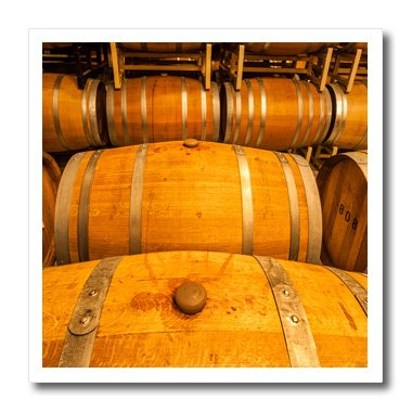 3dRose Danita Delimont - Richard Duval - Wine Barrels - USA, Washington, Yakima Valley. Wine matures in the barrel room. - 10x10 Iron on Heat Transfer for White Material - Pics Mature Usa