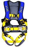 Guardian Fall Protection 193141 Construction Premium Edge Harness with Quick Connect Chest Buckle, Waist Tounge Buckle and Leg Tounge Buckles, M-XLarge