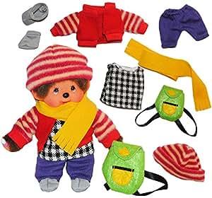 8 piezas. Conjunto Monchhichi ropa de muñeco de lana ropa de invierno ropa del muchacho Monchichi