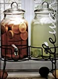Circleware Charming Country Double Beverage Dispenser on Metal Stand