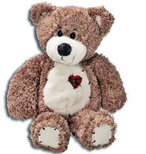 (Tender Teddy Bear Tan/ Patchwork Heart/Toys by First and)