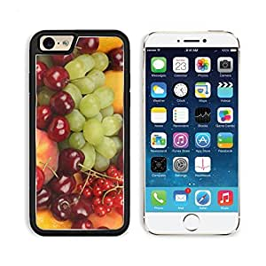 Currants Grapes Peaches Cherries Apple iPhone 6 TPU Snap Cover Premium Aluminium Design Back Plate Case Customized Made to Order Support Ready Liil iPhone_6 Professional Case Touch Accessories Graphic Covers Designed Model Sleeve HD Template Wallpaper Pho