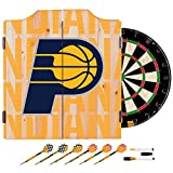 Trademark Gameroom NBA7010-IP3 NBA Dart Cabinet Set with Darts & Board - City - Indiana Pacers