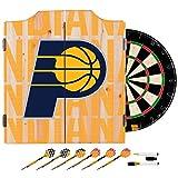 Trademark Gameroom NBA7010-IP3 NBA Dart Cabinet Set with Darts & Board - City - Indiana Pacers