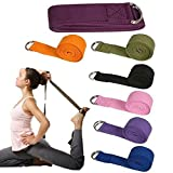 YourActiveGear Sport Yoga Stretch Strap D-Ring Belt Gym Waist