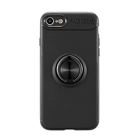 Back Cover with 360 Rotating Ring Grip Holder Stand Protective Case Yu Yao Inc iPhone 7 case for Impact Resistance Blue Fit Magnetic Car Mount