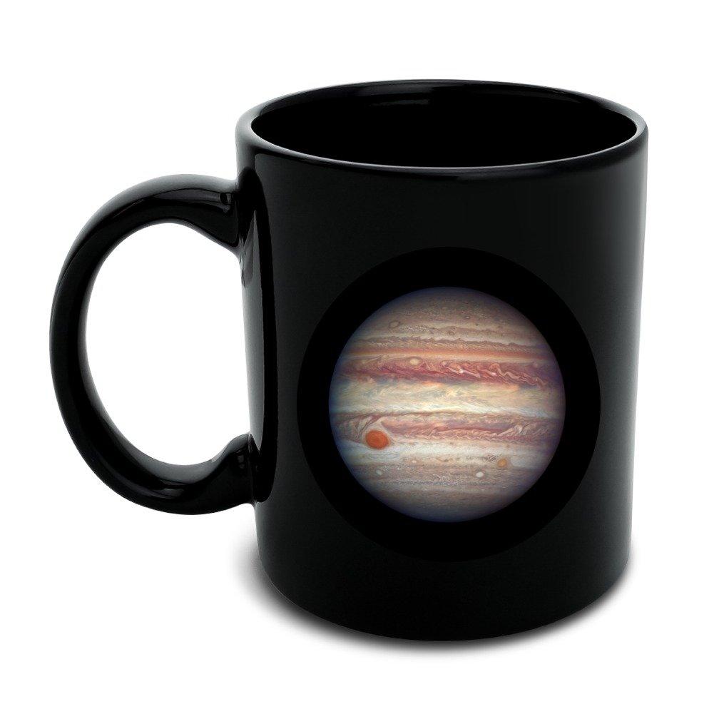 Planet Jupiter Solar System Black Mug