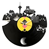 Las vegas clock Poker The Hangover Vinyl clock wall clock with pendulum Black color Original Vinyluse Made in Italy