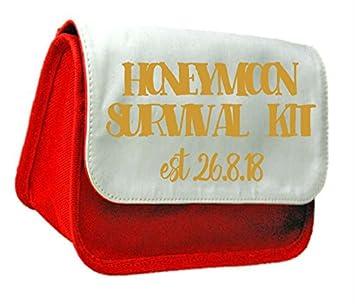 Luna de Miel Kit de supervivencia oro personalizado boda ...